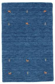 Gabbeh Loom Two Lines - Modrá Koberec 100X160 Moderní Tmavě Modrý/Modrá (Vlna, Indie)