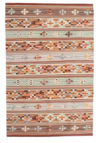 Kelim Anatolian Koberec 100X160 Moderní Ruční Tkaní Tmavě Červená/Světle Šedá (Vlna, Indie)