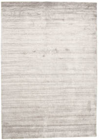 Bamboo Hedvábí Loom - Warm Šedá Koberec 160X230 Moderní Světle Šedá/Bílý/Krém ( Indie)