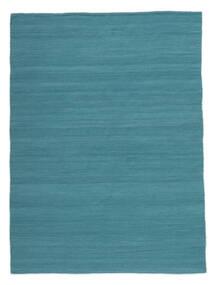 Kelim Loom - Petrol Blue Koberec 160X230 Moderní Ruční Tkaní Modrá/Tyrkysově Modré (Vlna, Indie)