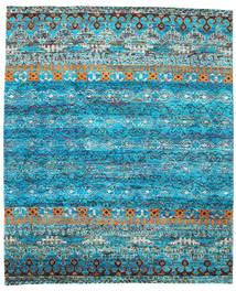 Quito - Turquoise Koberec 240X290 Moderní Ručně Tkaný Tyrkysově Modré/Modrá (Hedvábí, Indie)