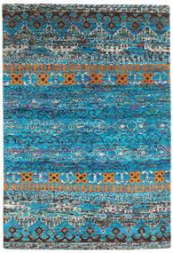 Quito - Turquoise Koberec 160X230 Moderní Ručně Tkaný Tyrkysově Modré/Tmavošedý (Hedvábí, Indie)