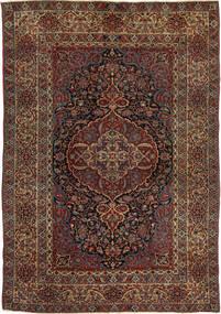 Isfahan Antický Koberec 147X215 Orientální Ručně Tkaný Tmavě Červená/Tmavě Hnědá (Vlna, Persie/Írán)