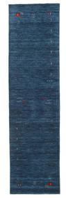 Gabbeh Loom Frame - Tmavě Modrý Koberec 80X300 Moderní Běhoun (Vlna, Indie)