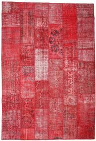 Patchwork Koberec 201X296 Moderní Ručně Tkaný Červená/Červenožlutá (Vlna, Turecko)