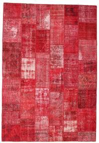 Patchwork Koberec 201X295 Moderní Ručně Tkaný Červená/Růžová/Červenožlutá (Vlna, Turecko)