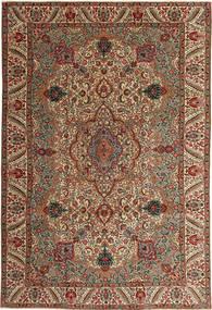 Tabriz Patina Koberec 217X323 Orientální Ručně Tkaný Tmavě Hnědá/Světle Hnědá (Vlna, Persie/Írán)