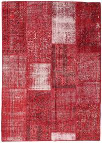 Patchwork Koberec 160X226 Moderní Ručně Tkaný Červená/Červenožlutá (Vlna, Turecko)