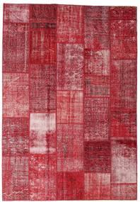 Patchwork Koberec 202X298 Moderní Ručně Tkaný Červená/Tmavě Červená/Červenožlutá (Vlna, Turecko)