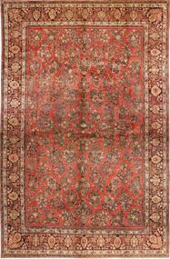 Sarough American Koberec 310X485 Orientální Ručně Tkaný Tmavě Hnědá/Červenožlutá Velký (Vlna, Persie/Írán)