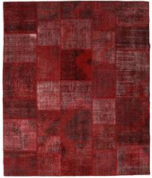 Patchwork Koberec 250X296 Moderní Ručně Tkaný Tmavě Červená Velký (Vlna, Turecko)