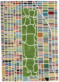New-York/Manhattan Handtufted - Multi Koberec 160X230 Moderní Béžová/Tmavě Zelený (Vlna, Indie)