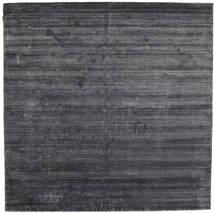 Bamboo Hedvábí Loom - Charcoal Koberec 250X250 Moderní Čtvercový Nachový/Tmavošedý/Černá Velký ( Indie)