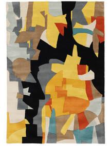 Rasmus Koberec 160X230 Moderní Černá/Světle Hnědá (Vlna, Indie)
