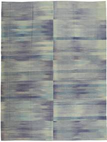 Kelim Moderní Koberec 213X278 Moderní Ručně Tkaný Tmavošedý/Tyrkysově Modré (Vlna, Afghánistán)