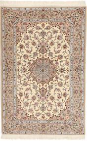 Isfahan Hedvábná Osnova Davudi Koberec 130X202 Orientální Ručně Tkaný Béžová/Světle Šedá (Vlna/Hedvábí, Persie/Írán)
