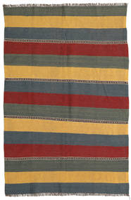 Kelim Koberec 132X198 Orientální Ruční Tkaní Modrá/Tmavě Červená (Vlna, Persie/Írán)
