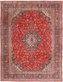 Keshan Koberec 315X420 Orientální Ručně Tkaný Tmavě Červená/Červenožlutá Velký (Vlna, Persie/Írán)