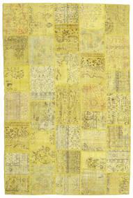 Patchwork Koberec 199X301 Moderní Ručně Tkaný Žlutý/Olivově Zelený (Vlna, Turecko)