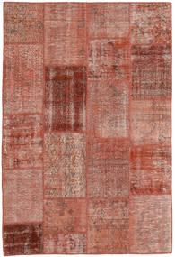 Patchwork Koberec 158X231 Moderní Ručně Tkaný Tmavě Červená/Světle Růžová (Vlna, Turecko)