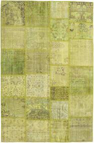 Patchwork Koberec 198X305 Moderní Ručně Tkaný Olivově Zelený/Žlutý (Vlna, Turecko)