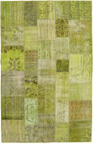 Patchwork Koberec 196X304 Moderní Ručně Tkaný Světle Zelená/Olivově Zelený (Vlna, Turecko)