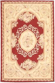 Aubouson Koberec 184X281 Orientální Ručně Tkaný Tmavá Béžová/Béžová/Tmavě Červená (Vlna, Čína)