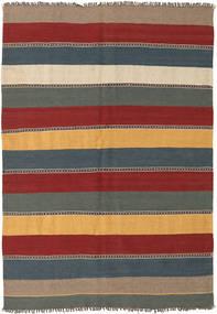 Kelim Koberec 135X197 Orientální Ruční Tkaní Tmavě Červená/Modrá (Vlna, Persie/Írán)
