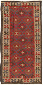 Kelim Maimane Koberec 97X194 Orientální Ruční Tkaní Tmavě Hnědá/Světle Hnědá (Vlna, Afghánistán)