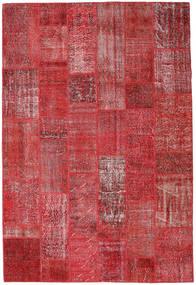 Patchwork Koberec 204X302 Moderní Ručně Tkaný Tmavě Červená/Červená (Vlna, Turecko)