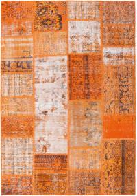 Patchwork Koberec 159X230 Moderní Ručně Tkaný Oranžová/Světle Hnědá (Vlna, Turecko)