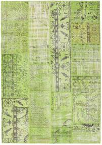 Patchwork Koberec 143X204 Moderní Ručně Tkaný Světle Zelená (Vlna, Turecko)