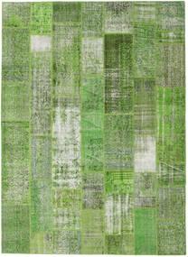 Patchwork Koberec 254X348 Moderní Ručně Tkaný Tmavě Zelený/Pastelově Zelená/Světle Zelená Velký (Vlna, Turecko)