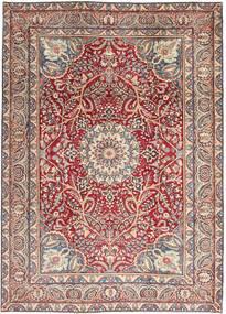 Kerman Patina Koberec 248X344 Orientální Ručně Tkaný Světle Šedá/Tmavě Červená (Vlna, Persie/Írán)