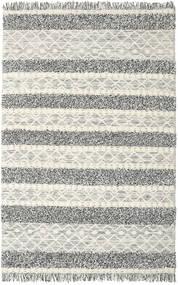 Kelim Berber Ibiza - Černá A Bílé Koberec 200X300 Moderní Ruční Tkaní Světle Šedá/Tmavošedý/Tmavá Béžová (Vlna, Indie)