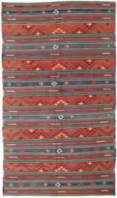 Kelim Turecko Koberec 170X296 Orientální Ruční Tkaní Tmavě Červená/Tmavě Zelený (Vlna, Turecko)
