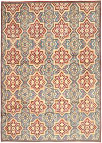 Kerman Koberec 264X369 Orientální Ručně Tkaný Béžová/Tmavá Béžová Velký (Vlna, Persie/Írán)