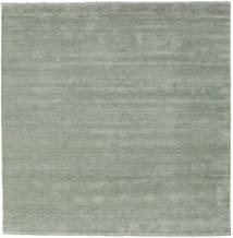 Handloom Fringes - Soft Teal Koberec 250X250 Moderní Čtvercový Světle Zelená Velký (Vlna, Indie)