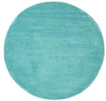 Handloom - Aqua Koberec Ø 150 Moderní Oválný Tmavý Turquoise/Tyrkysově Modré (Vlna, Indie)