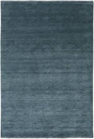 Handloom Fringes - Deep Petrol Koberec 200X300 Moderní Modrá/Tmavě Modrý (Vlna, Indie)