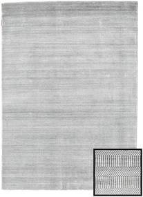 Bamboo Grass - Šedá Koberec 140X200 Moderní Světle Šedá/Bílý/Krém (Vlna/Hedvábí Bambus, Turecko)