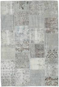Patchwork Koberec 157X230 Moderní Ručně Tkaný Světle Šedá/Tyrkysově Modré (Vlna, Turecko)