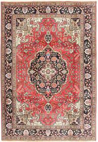Tabriz Koberec 200X287 Orientální Ručně Tkaný Tmavě Červená/Hnědá (Vlna, Persie/Írán)