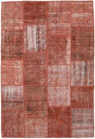 Patchwork Koberec 158X232 Moderní Ručně Tkaný Tmavě Červená (Vlna, Turecko)