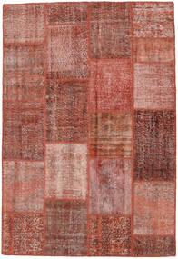 Patchwork Koberec 158X232 Moderní Ručně Tkaný Tmavě Červená/Světle Růžová (Vlna, Turecko)