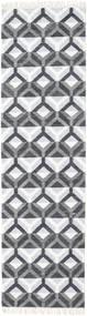Aino Koberec 80X300 Moderní Ruční Tkaní Běhoun Bílý/Krém/Světle Modrý/Nachový (Vlna/Hedvábí Bambus, Indie)