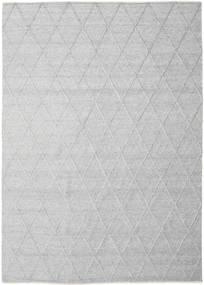 Svea - Stříbrnošedá Koberec 250X350 Moderní Ruční Tkaní Světle Šedá/Bílý/Krém Velký (Vlna, Indie)