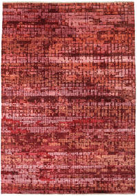 Damask Indické Koberec 173X245 Moderní Ručně Tkaný Tmavě Červená/Červenožlutá ( Indie)