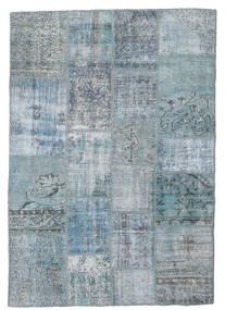 Patchwork Koberec 139X201 Moderní Ručně Tkaný Světle Modrý/Světle Šedá/Modrá (Vlna, Turecko)
