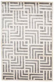 Maze Koberec 200X300 Moderní Ručně Tkaný Světle Šedá/Bílý/Krém ( Indie)